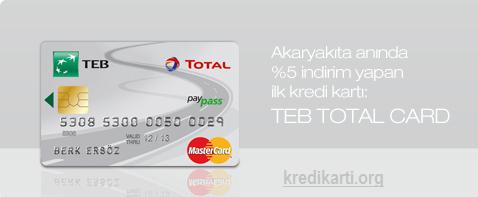 teb total kredi kartı